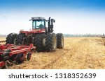 Modern Tractor In The Field...