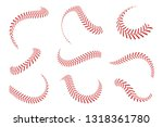baseball laces set. baseball... | Shutterstock .eps vector #1318361780