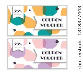 gift voucher template set.... | Shutterstock .eps vector #1318377443