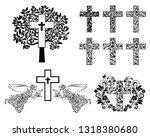set of crosses. christian... | Shutterstock .eps vector #1318380680