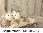 easter decoration for home ... | Shutterstock . vector #1318382819