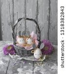 easter decoration for home ... | Shutterstock . vector #1318382843