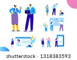 flat business people vector set.... | Shutterstock .eps vector #1318383593