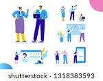 flat business people vector set.... | Shutterstock .eps vector #1318383593