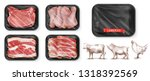 meat food. beef  pork  chicken... | Shutterstock .eps vector #1318392569