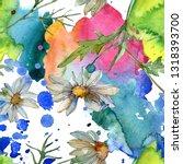 daisy floral botanical flower.... | Shutterstock . vector #1318393700