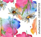 daisy floral botanical flower.... | Shutterstock . vector #1318393733