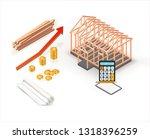 modern isometric house... | Shutterstock .eps vector #1318396259