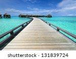 beautiful beach with water... | Shutterstock . vector #131839724