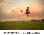 fine art children's photography | Shutterstock . vector #1318398809