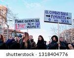 barcelona  spain   8 march 2018 ...   Shutterstock . vector #1318404776