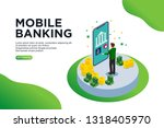 mobile banking isometric vector ...