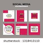 modern promotion square web... | Shutterstock .eps vector #1318413110