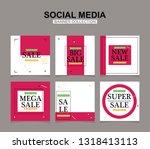 modern promotion square web... | Shutterstock .eps vector #1318413113