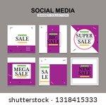 modern promotion square web... | Shutterstock .eps vector #1318415333
