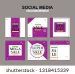 modern promotion square web... | Shutterstock .eps vector #1318415339