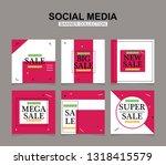 modern promotion square web... | Shutterstock .eps vector #1318415579