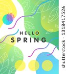 unique spring card with bright... | Shutterstock .eps vector #1318417526