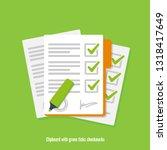clipboard with green ticks... | Shutterstock .eps vector #1318417649