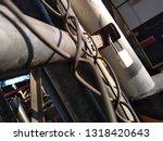padlock in industrial mesh ...   Shutterstock . vector #1318420643