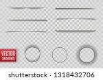 vector shadows isolated.... | Shutterstock .eps vector #1318432706