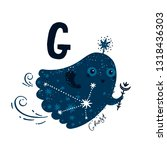 vector animal alphabet letter g ... | Shutterstock .eps vector #1318436303