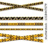 lines isolated. warning tapes.... | Shutterstock .eps vector #1318447079