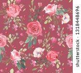 beautiful  trendy  seamless ... | Shutterstock . vector #1318448696