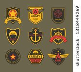 set of isolated military badge... | Shutterstock .eps vector #1318449269