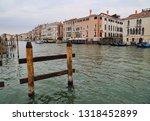 palazzos and gondolas along the ... | Shutterstock . vector #1318452899