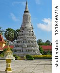 an ornate stupa in the grounds... | Shutterstock . vector #1318466216