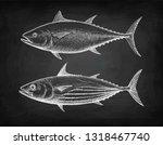 chalk sketch of skipjack and...   Shutterstock .eps vector #1318467740