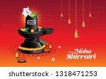 hindu festival happy maha... | Shutterstock .eps vector #1318471253