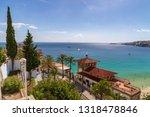 house on the beech on palma de... | Shutterstock . vector #1318478846