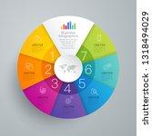 infographics design vector and... | Shutterstock .eps vector #1318494029