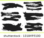 set of black ink hand drawn... | Shutterstock .eps vector #1318495100
