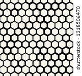 hexagon halftone seamless...   Shutterstock .eps vector #1318506470