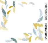 colorful silver gold feathers... | Shutterstock .eps vector #1318509383