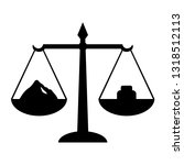 scales with weight icon.... | Shutterstock . vector #1318512113