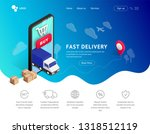 fast delivery online vector...