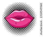 female lips pop art style... | Shutterstock .eps vector #1318545560