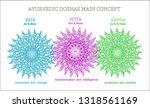 ayurvedic coshas  vata  pitta ... | Shutterstock .eps vector #1318561169