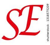 se letter vector logo | Shutterstock .eps vector #1318575209
