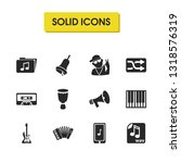 melody icons set with wav file  ...