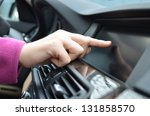driver entering an address into ... | Shutterstock . vector #131858570