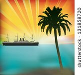 vintage sea cruise  tropical... | Shutterstock .eps vector #131858720