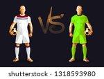 football  olympique lyonnais vs ... | Shutterstock .eps vector #1318593980
