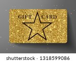 gift card  vip or discount .... | Shutterstock .eps vector #1318599086
