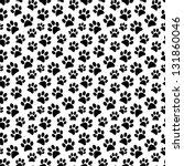 animal footprint seamless... | Shutterstock .eps vector #131860046