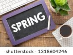 spring text in a notebook.   Shutterstock . vector #1318604246